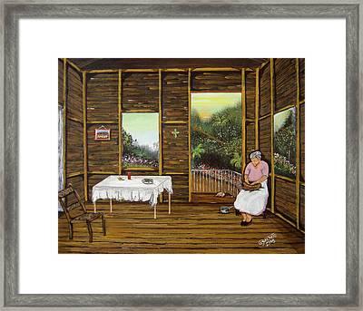 Inside Wooden Home Framed Print