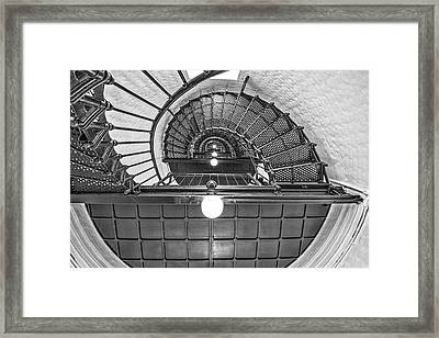 Framed Print featuring the photograph Inside Yaquina Head Light by Thomas Gaitley