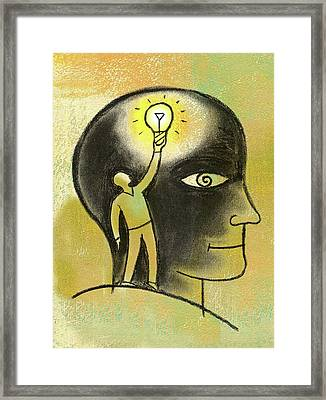 Inside Your Mind Framed Print by Leon Zernitsky
