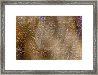 Insight Framed Print by Vicki Ferrari