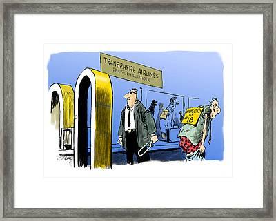 Inspector Number 18. Framed Print