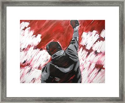 Inspiration  - Rocky Balboa Framed Print by Holly Donohoe