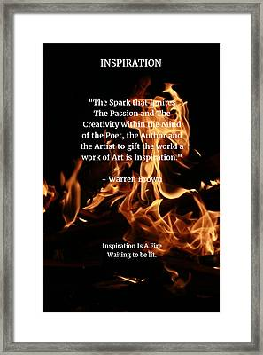 Inspiration And Creativity Framed Print by Warren Brown
