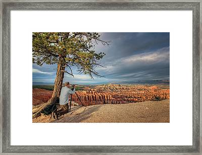 Inspiration At The Point - Bryce Framed Print