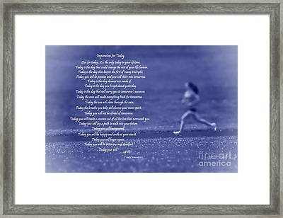 Inspiration For Today Runner  Framed Print by Cathy  Beharriell
