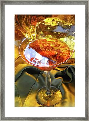 Inspiration Libation Framed Print by Gail Butters Cohen