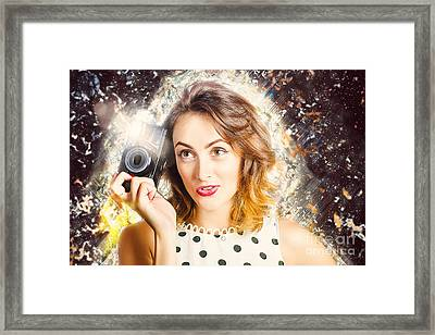 Inspiration Of A Creative Pinup Photographer  Framed Print
