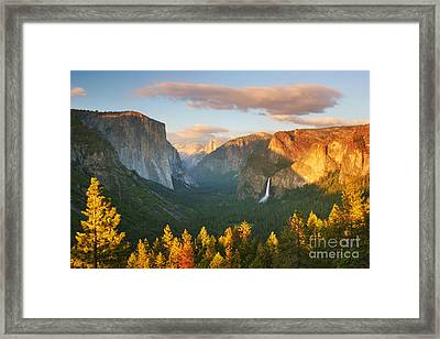 Inspiration Point Yosemite Framed Print by Buck Forester