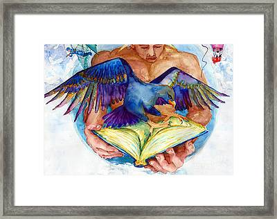 Inspiration Spreads Its Wings Framed Print