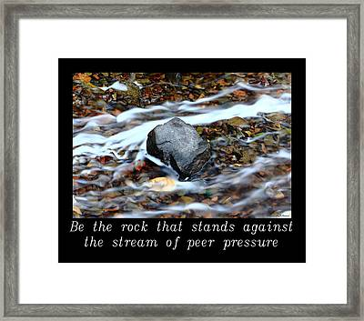 Inspirational-be The Rock Framed Print
