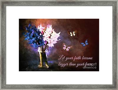 Inspirational Flower Art Framed Print