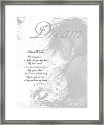 Inspirational Poem Dreams Framed Print