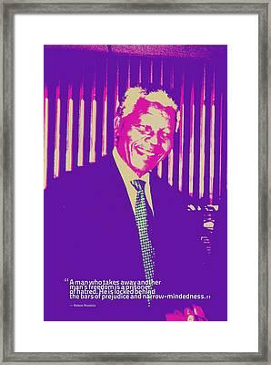 Inspirational Quotes - Motivational - 125 Nelson Mandela Framed Print