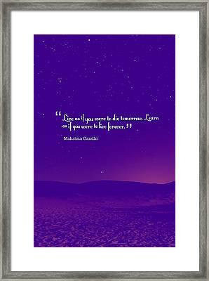 Inspirational Quotes - Motivational - 129 Balance Framed Print