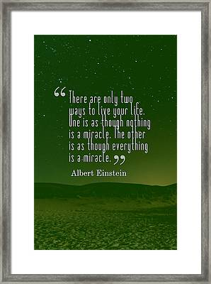 Inspirational Quotes - Motivational - 131 Framed Print by Celestial Images