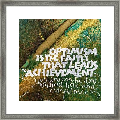 Inspirational Saying Optimism Framed Print