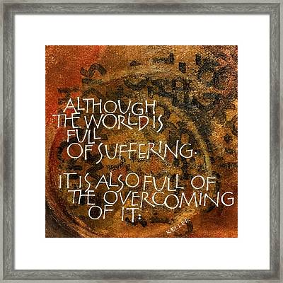 Inspirational Saying Overcome Framed Print