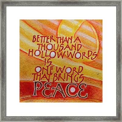 Inspirational Saying Peace Framed Print