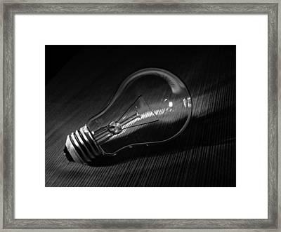 Inspiration...lightbulb Framed Print by Tom Druin