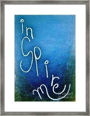 Inspire Me - Deep Blue Sea Framed Print by Scott D Van Osdol