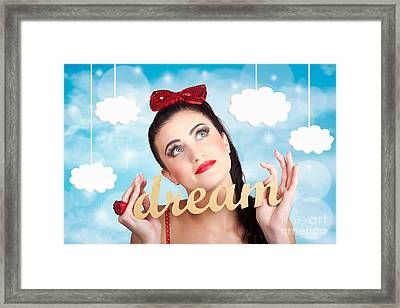 Inspire To Create. Pinup Your Dreams To The Sky Framed Print by Jorgo Photography - Wall Art Gallery