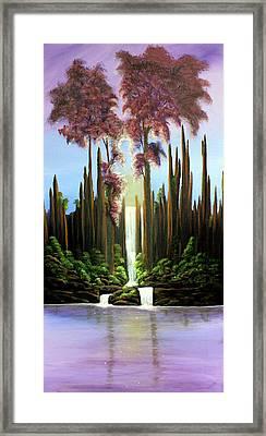 Inspireation Falls Framed Print