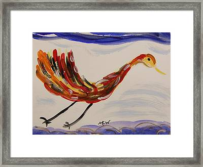 Inspired By Calder's Only Only Bird Framed Print by Mary Carol Williams