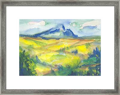 Inspired By Cezanne Framed Print by Connie Schaertl