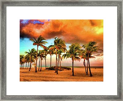 Crandon Park Beach Framed Print