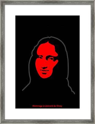 Inspired By Mona Lisa - Hommage A Leonardo Da Vincy Framed Print by Asbjorn Lonvig