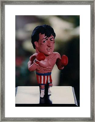 Inspired Rocky Framed Print by Joaquin Carrasquilla