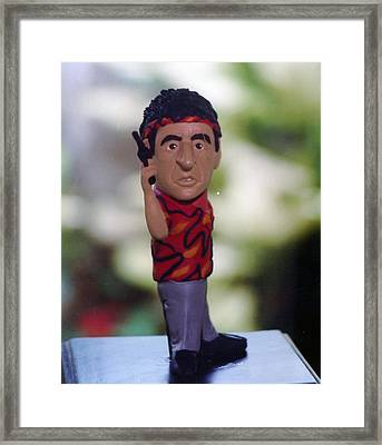 Inspired Scarface Framed Print by Joaquin Carrasquilla