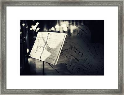 Inspiring Music Of The Night Streets Framed Print by Jenny Rainbow