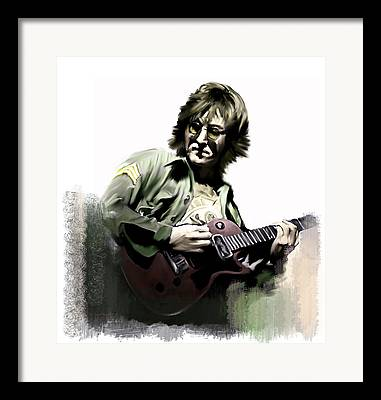 John Lennon Collectible Framed Prints