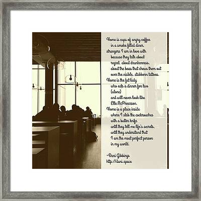 #instapoet #poetrycommunity #poetry Framed Print by Danielle McGaw