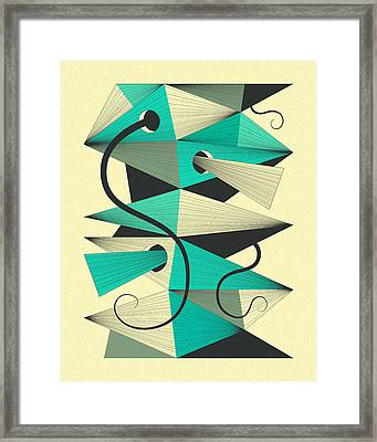 Interzone 3 Framed Print by Jazzberry Blue