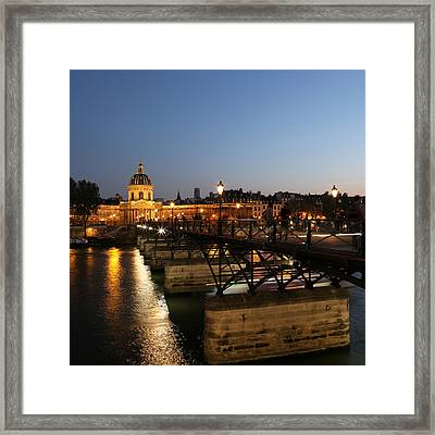 Framed Print featuring the photograph Institute Of France by Andrew Fare