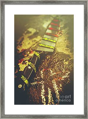 Instrument Of Crime Framed Print by Jorgo Photography - Wall Art Gallery