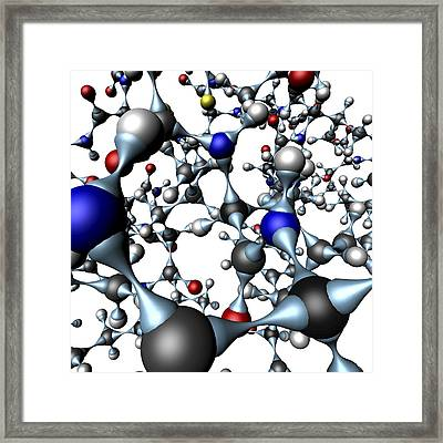 Insulin Molecule, Close-up View Framed Print