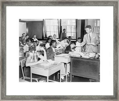 Integrated Classroom In Washington Framed Print