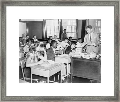 Integrated Classroom In Washington Framed Print by Everett