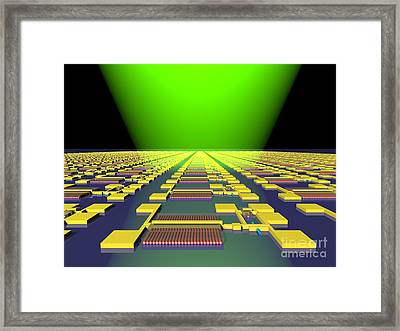 Integrated Nanowire Sensor Circuitry Framed Print by Science Source