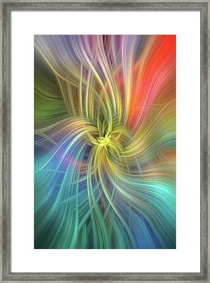 Intelligence. Mystery Of Colors   Framed Print by Jenny Rainbow