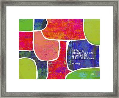 Intelligent Women Framed Print