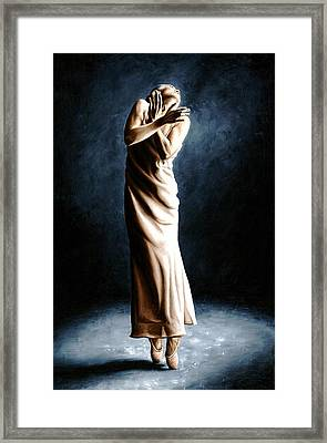 Intense Ballerina Framed Print by Richard Young