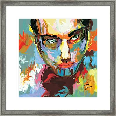 Intense Face 2 Framed Print