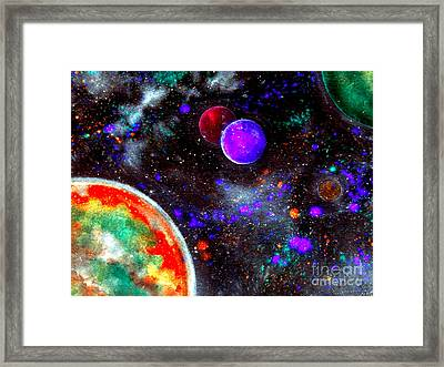 Intense Galaxy Framed Print by Bill Holkham
