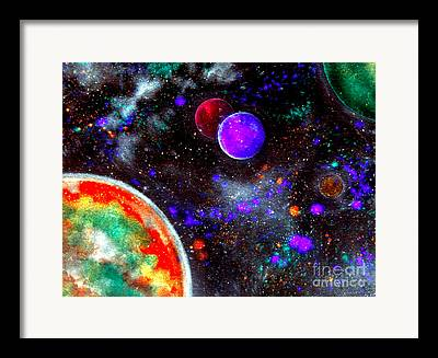 Stellar Mixed Media Framed Prints