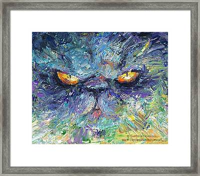 Intense Palette Knife  Persian Cat Framed Print