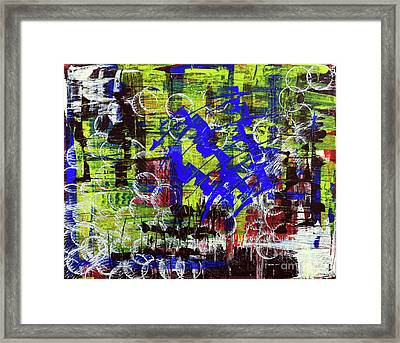 Framed Print featuring the painting Intensity by Cathy Beharriell